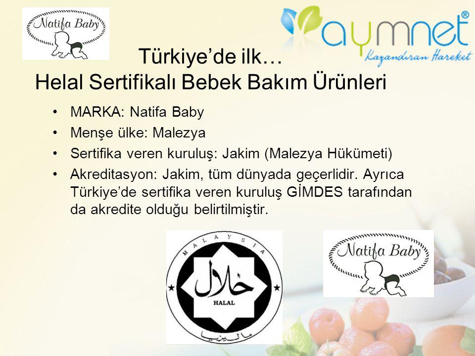 Türkiye'de ilk… Helal Sertifikalı Bebek Bakım Ürünleri