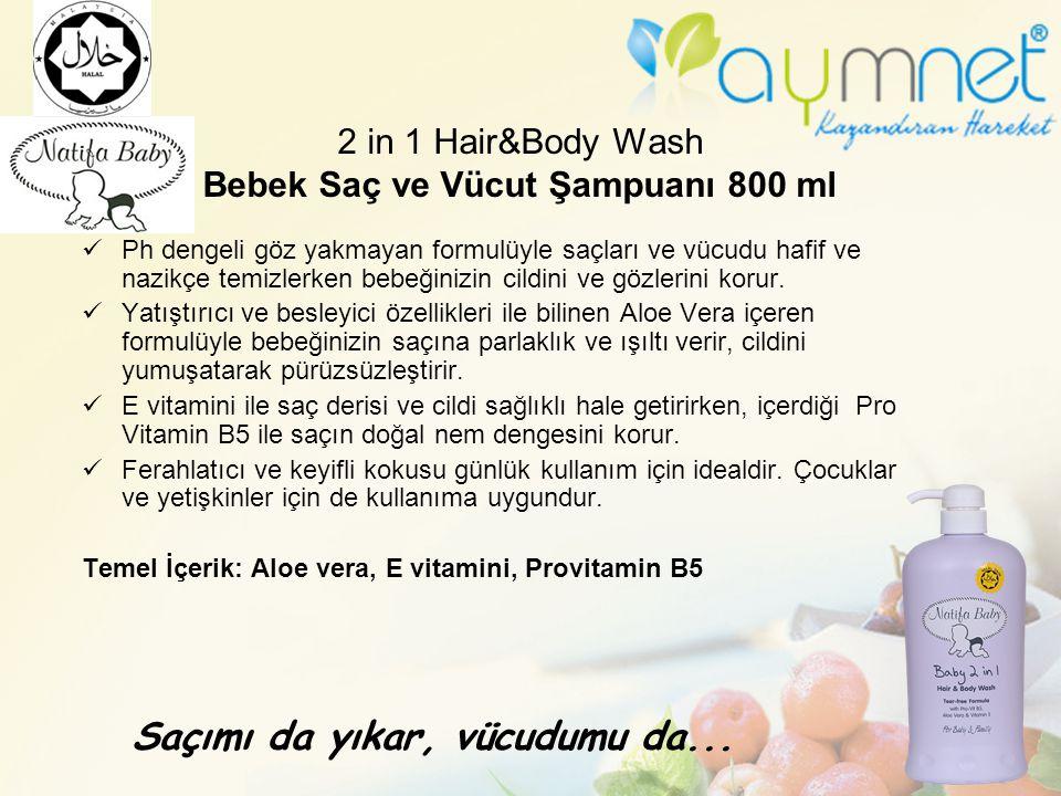 2 in 1 Hair&Body Wash Bebek Saç ve Vücut Şampuanı 800 ml