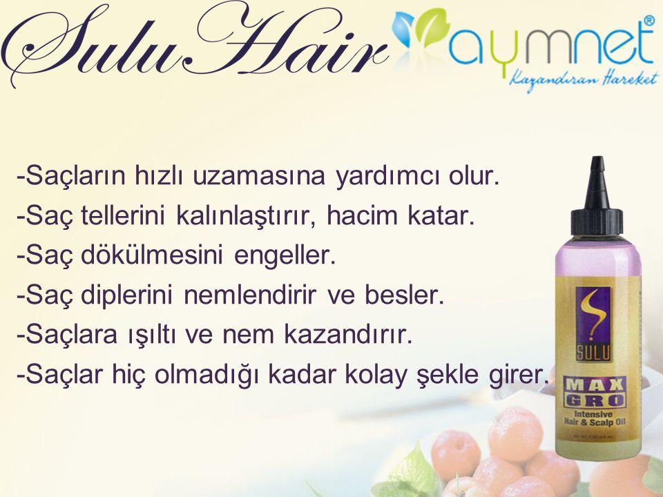 -Saçların hızlı uzamasına yardımcı olur