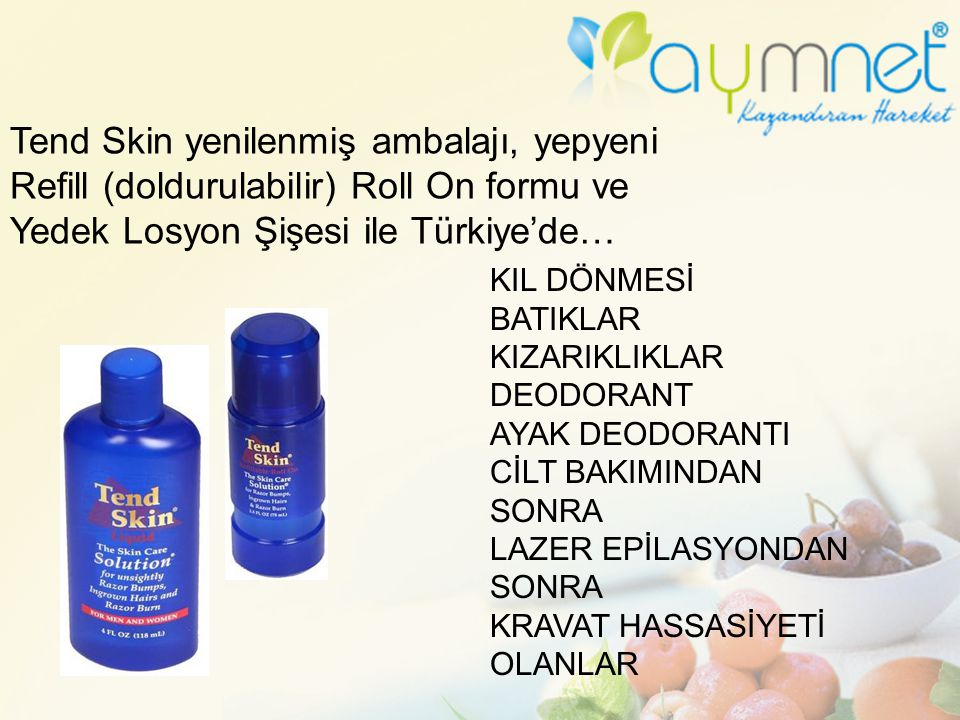 Tend Skin yenilenmiş ambalajı, yepyeni Refill (doldurulabilir) Roll On formu ve Yedek Losyon Şişesi ile Türkiye'de…