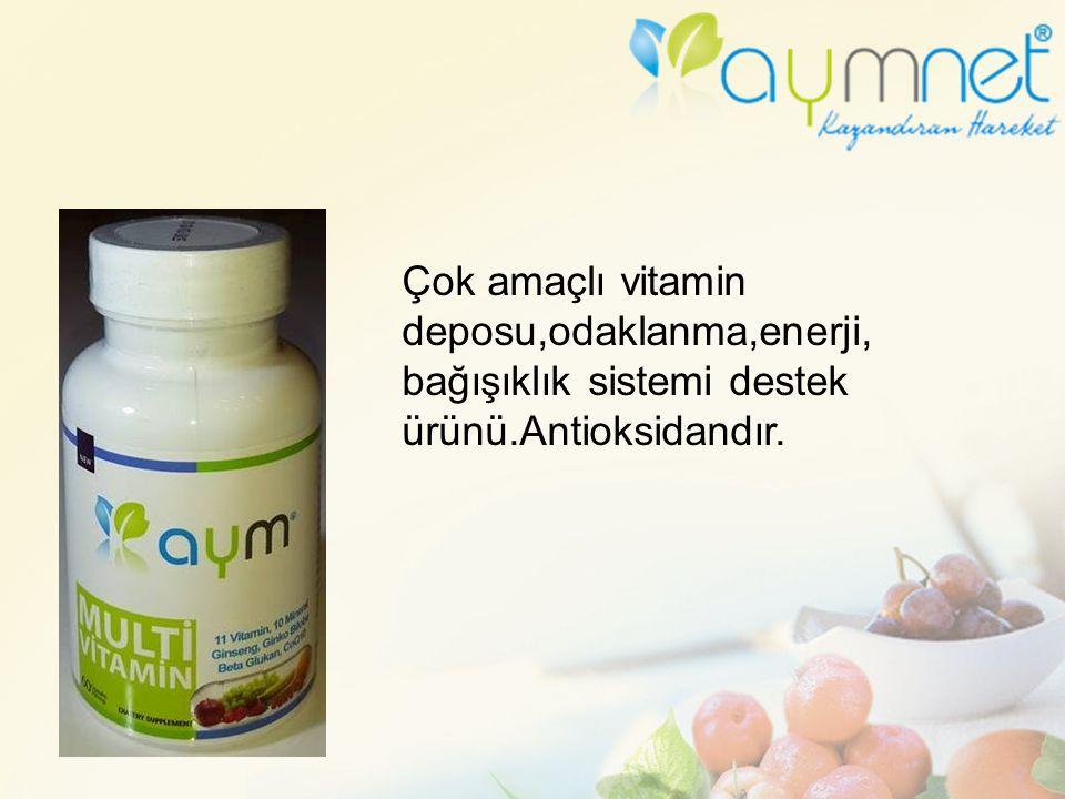Çok amaçlı vitamin deposu,odaklanma,enerji,