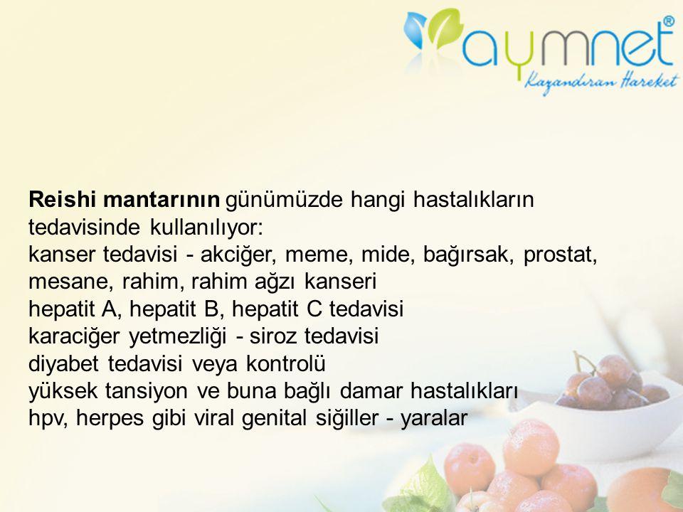 Reishi mantarının günümüzde hangi hastalıkların tedavisinde kullanılıyor: