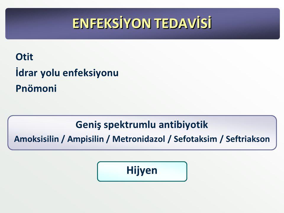 ENFEKSİYON TEDAVİSİ Hijyen Otit İdrar yolu enfeksiyonu Pnömoni