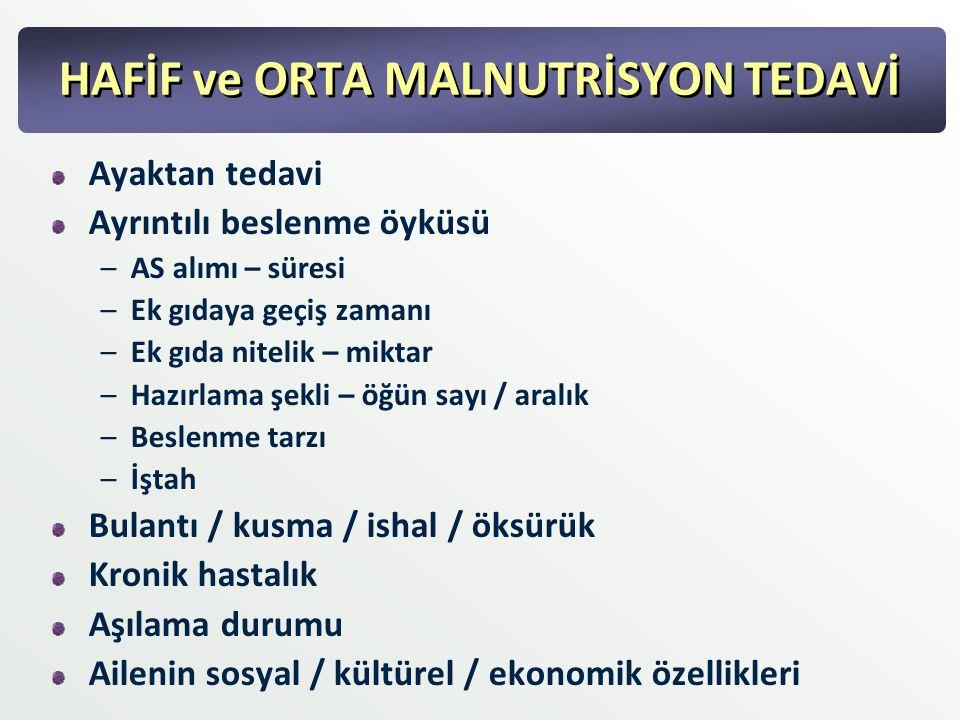 HAFİF ve ORTA MALNUTRİSYON TEDAVİ