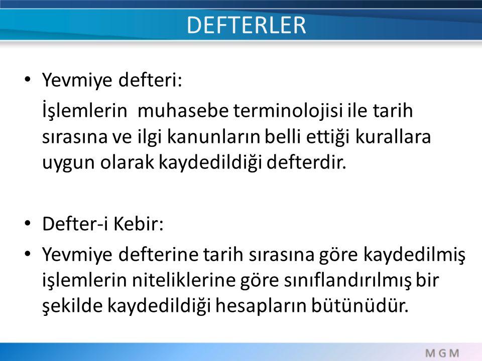 DEFTERLER Yevmiye defteri: