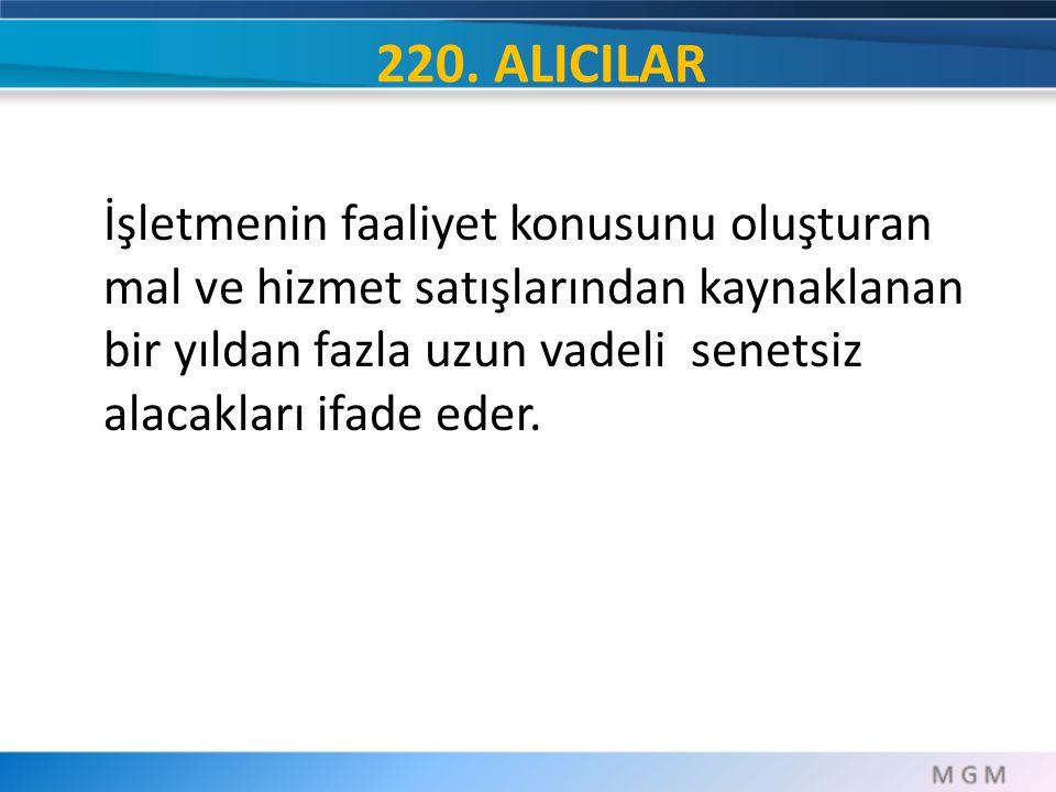 220. ALICILAR