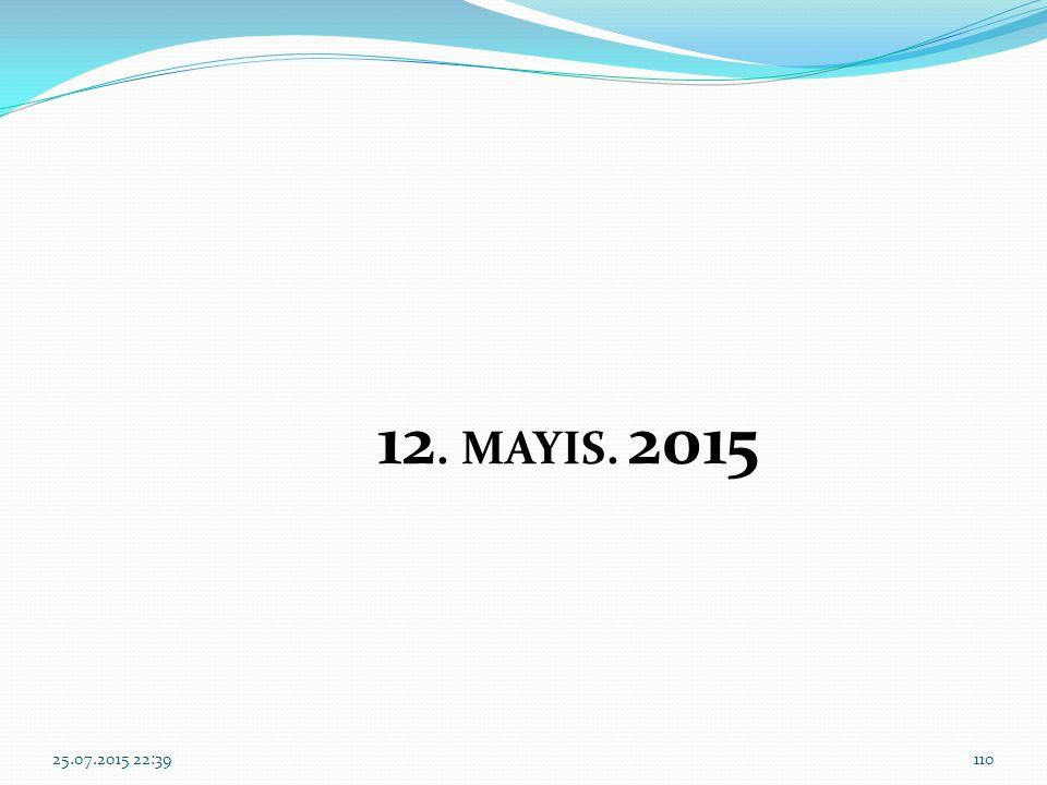 12. MAYIS. 2015 18.04.2017 16:10