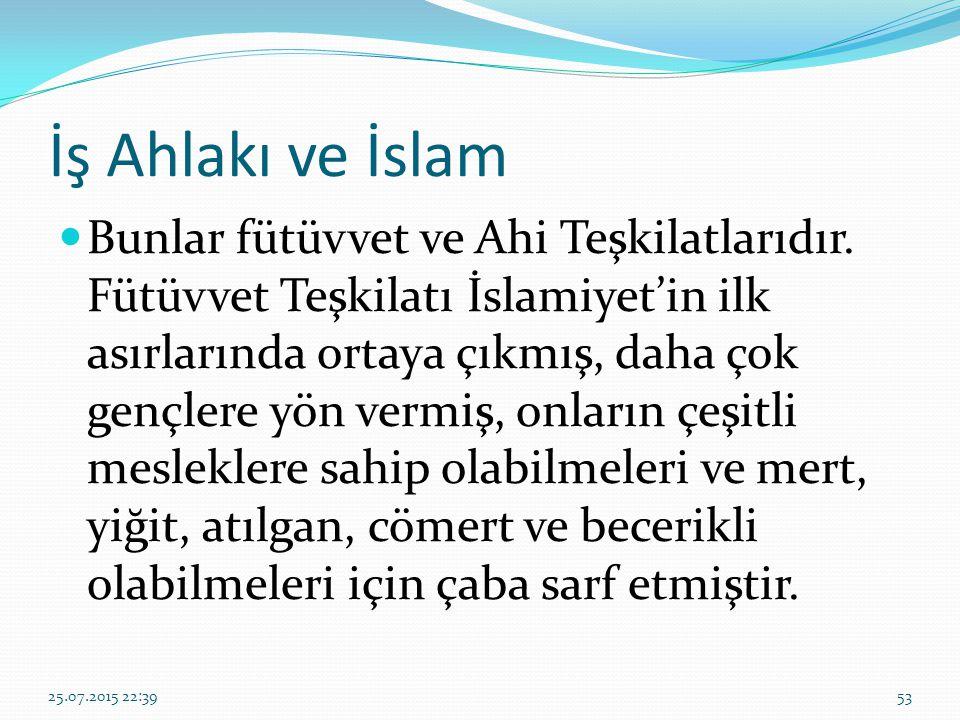 İş Ahlakı ve İslam