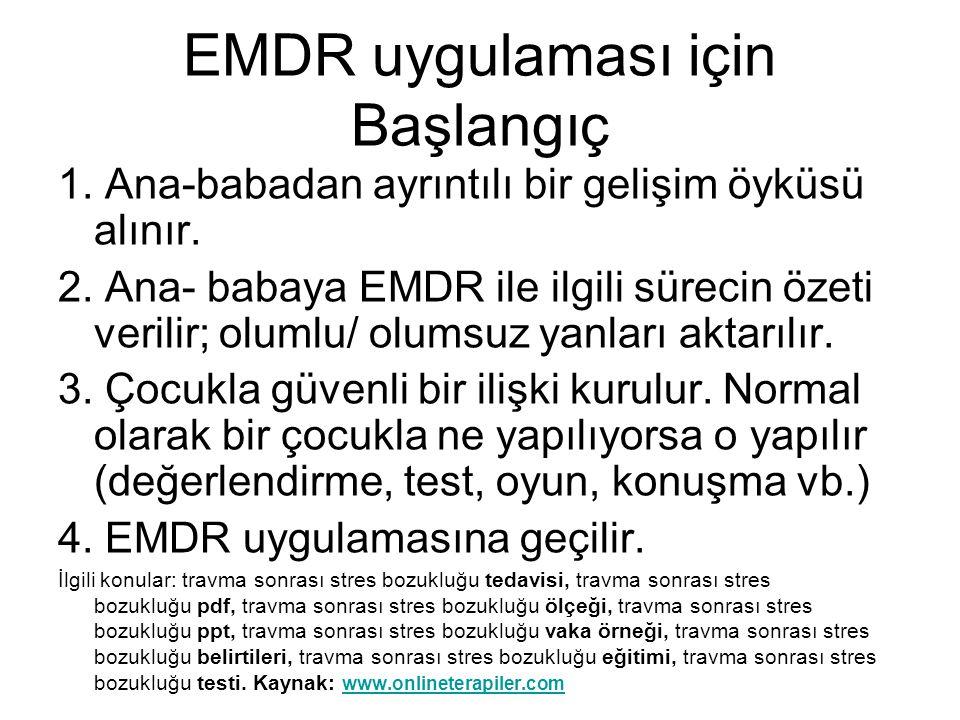 EMDR uygulaması için Başlangıç