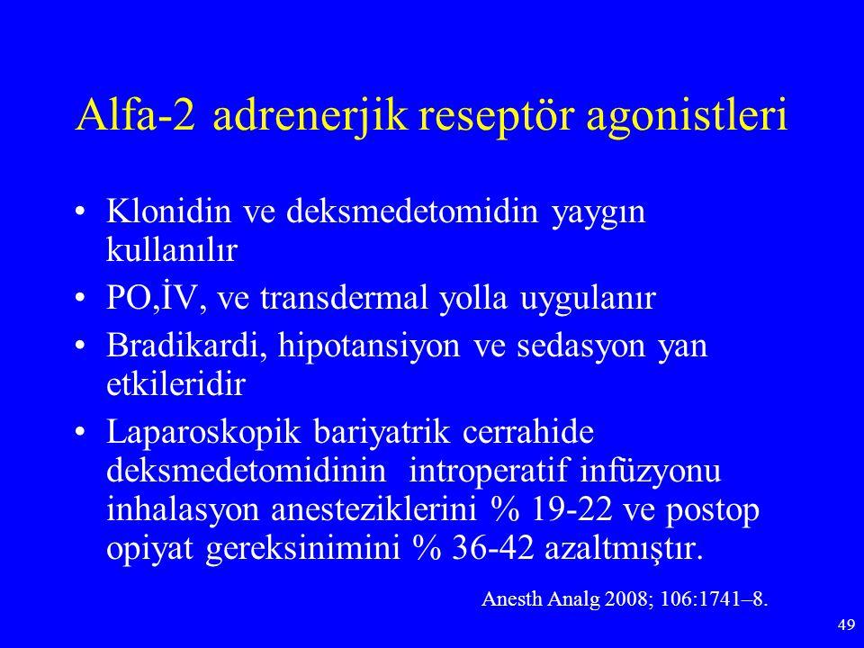 Alfa-2 adrenerjik reseptör agonistleri