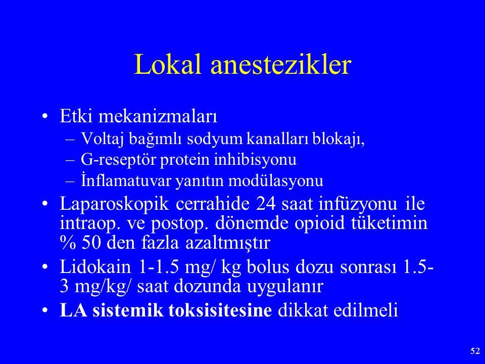 Lokal anestezikler Etki mekanizmaları