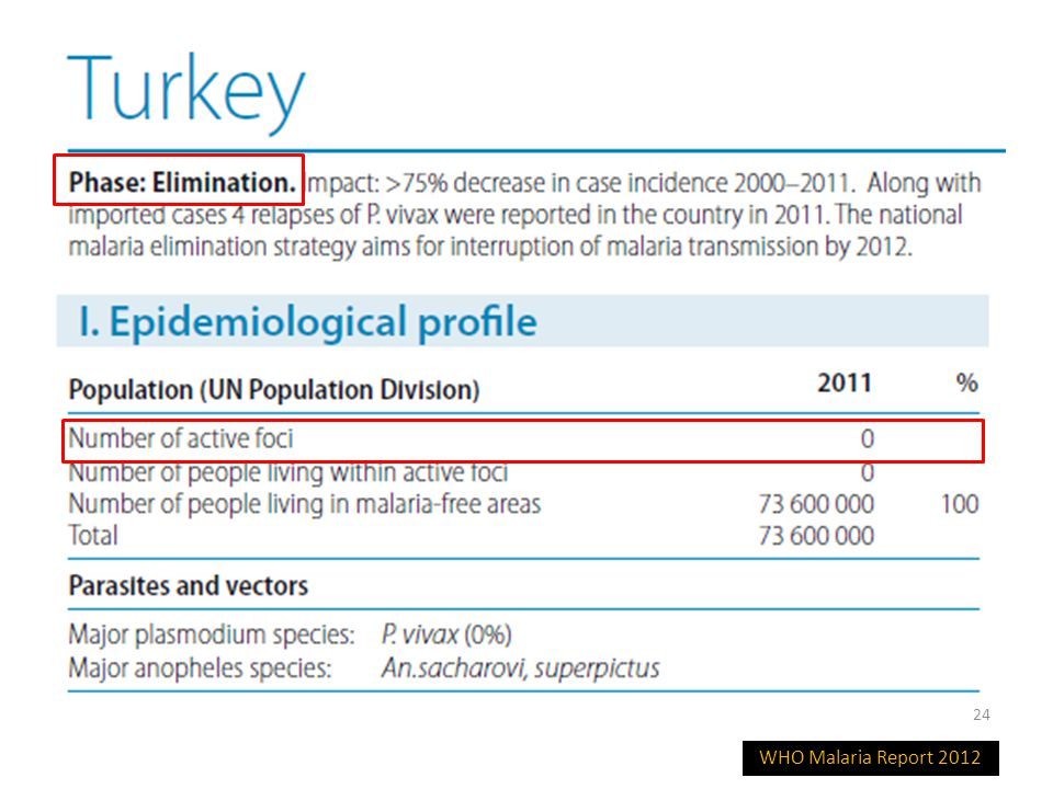 WHO Malaria Report 2012