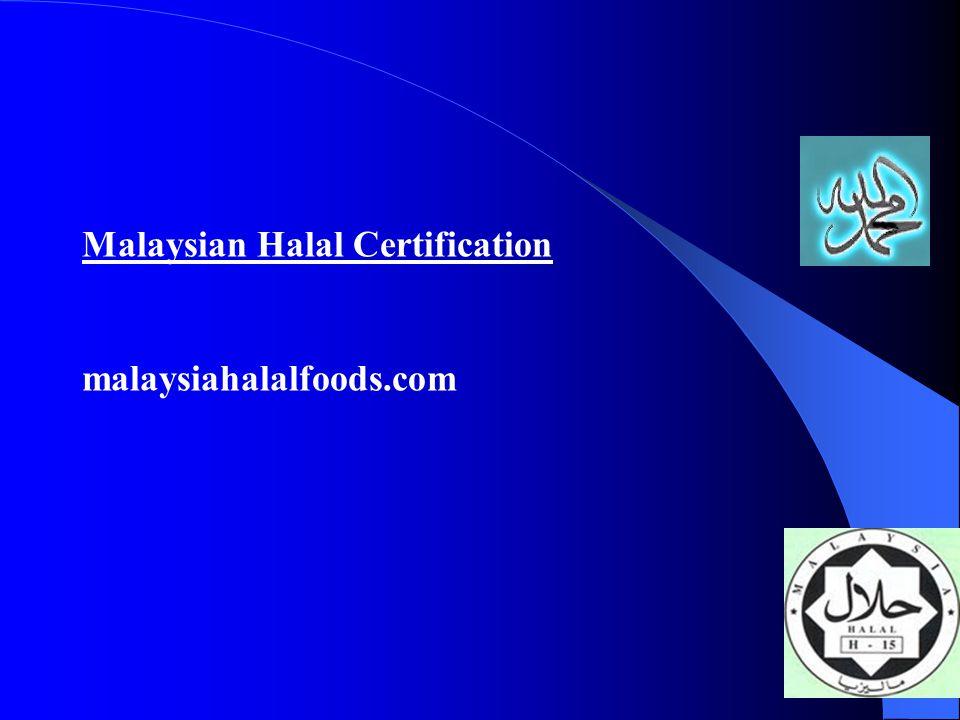 Malaysian Halal Certification