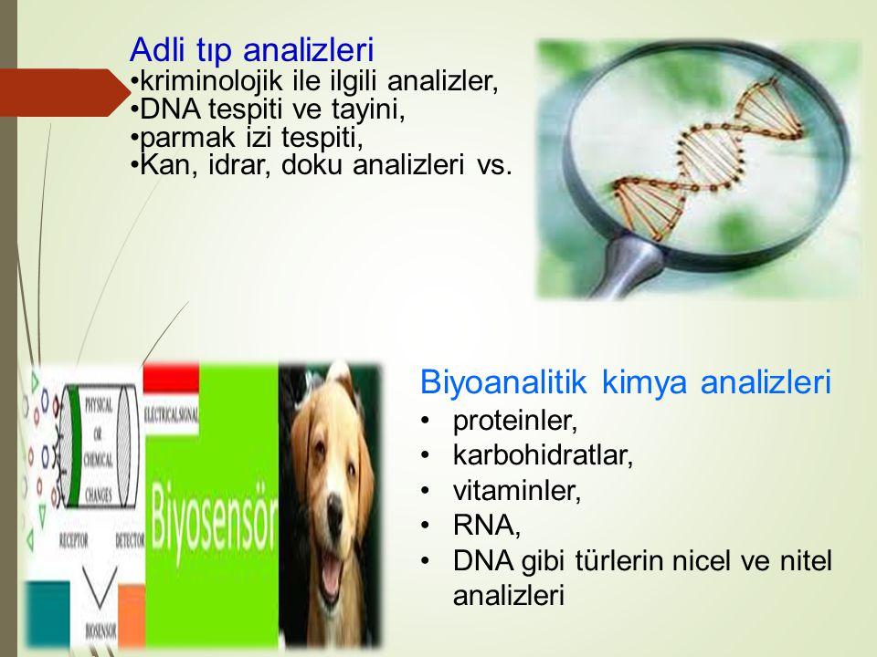 Biyoanalitik kimya analizleri