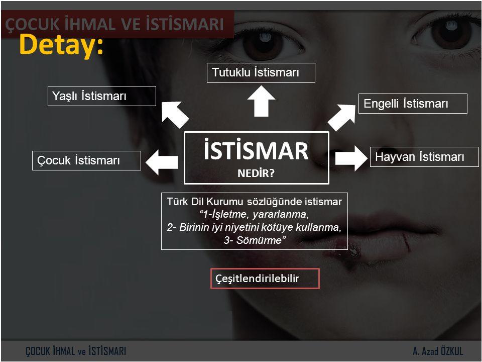 Detay: İSTİSMAR ÇOCUK İHMAL VE İSTİSMARI Tutuklu İstismarı