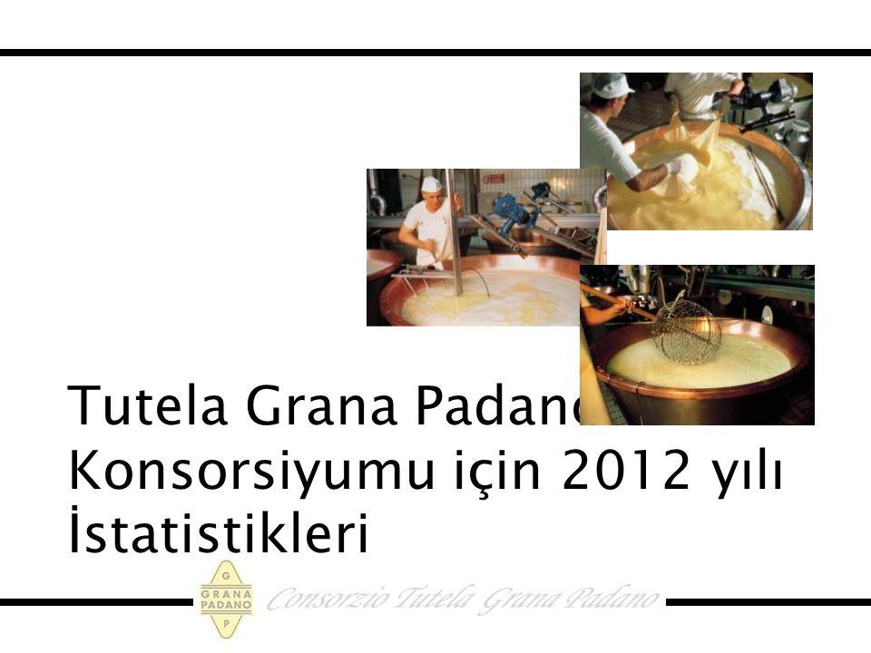 Tutela Grana Padano Konsorsiyumu için 2012 yılı İstatistikleri