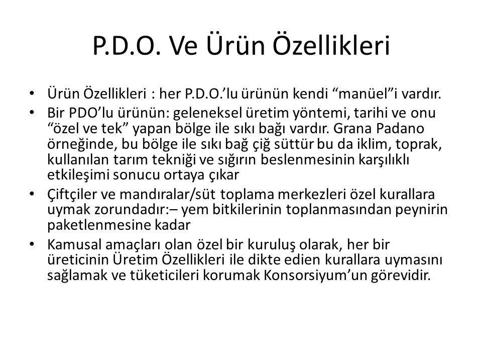 P.D.O. Ve Ürün Özellikleri