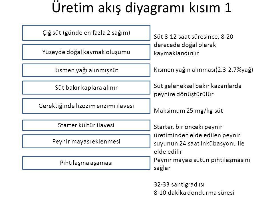 Üretim akış diyagramı kısım 1