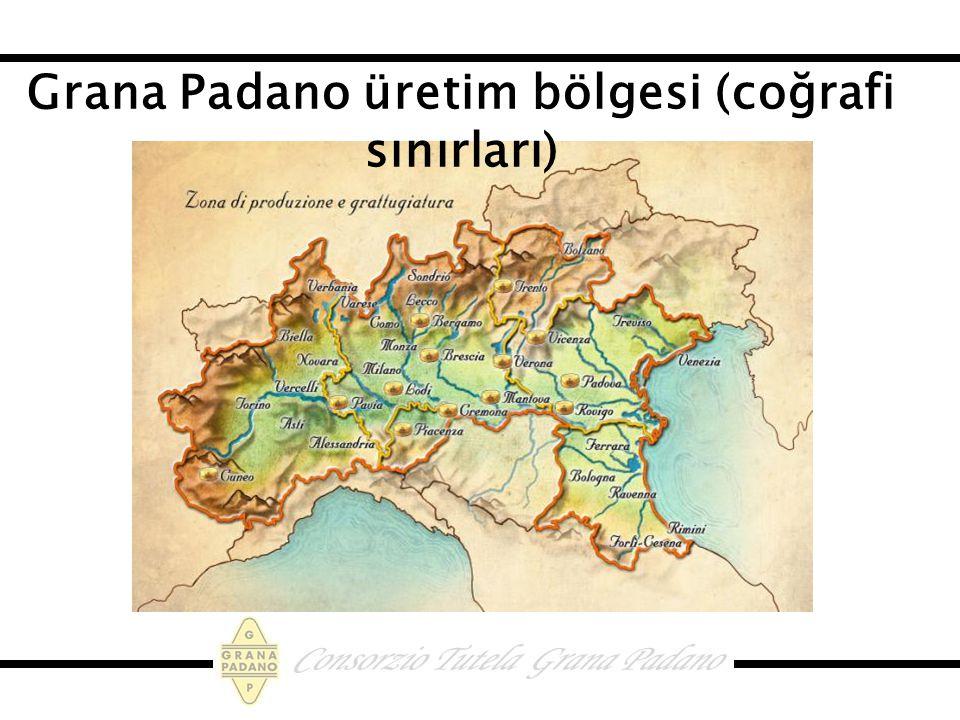 Grana Padano üretim bölgesi (coğrafi sınırları)
