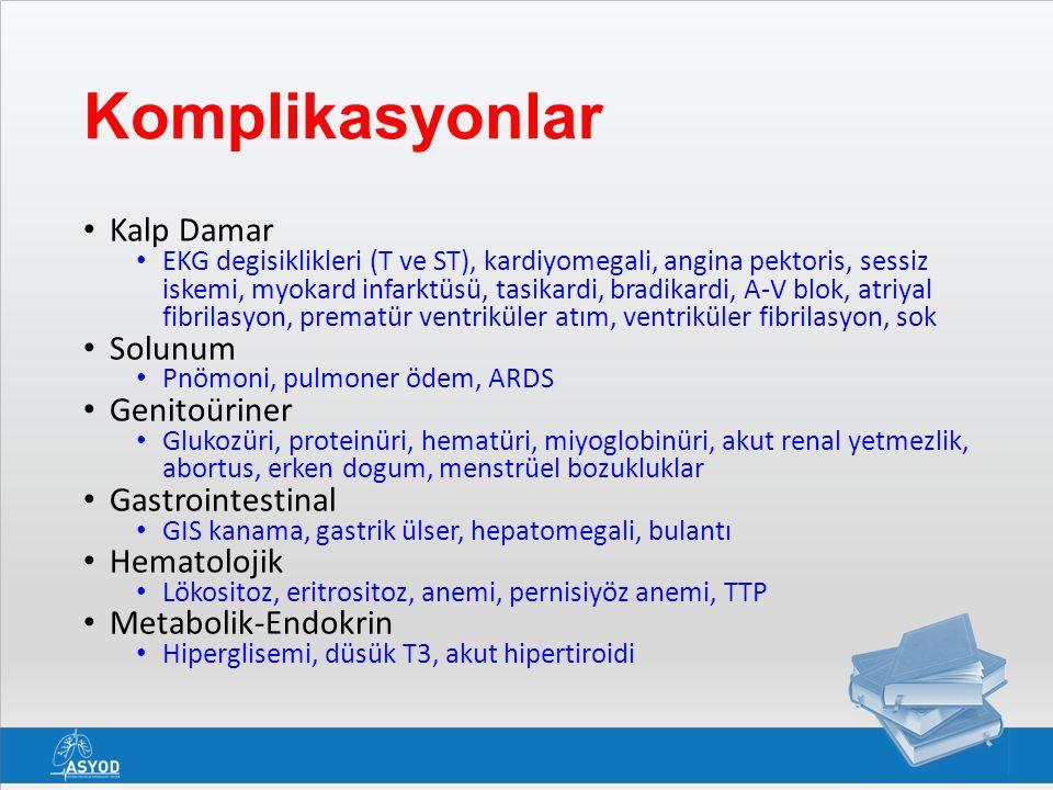 Komplikasyonlar Kalp Damar Solunum Genitoüriner Gastrointestinal