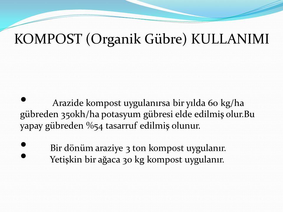 KOMPOST (Organik Gübre) KULLANIMI
