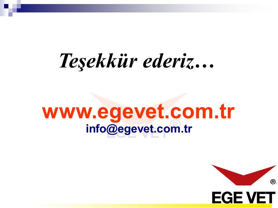 Teşekkür ederiz… www.egevet.com.tr info@egevet.com.tr