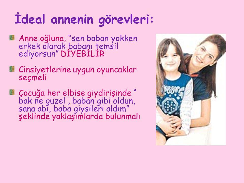 İdeal annenin görevleri: