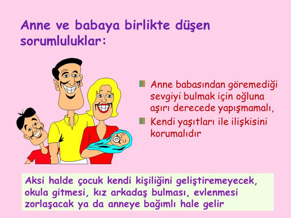 Anne ve babaya birlikte düşen sorumluluklar: