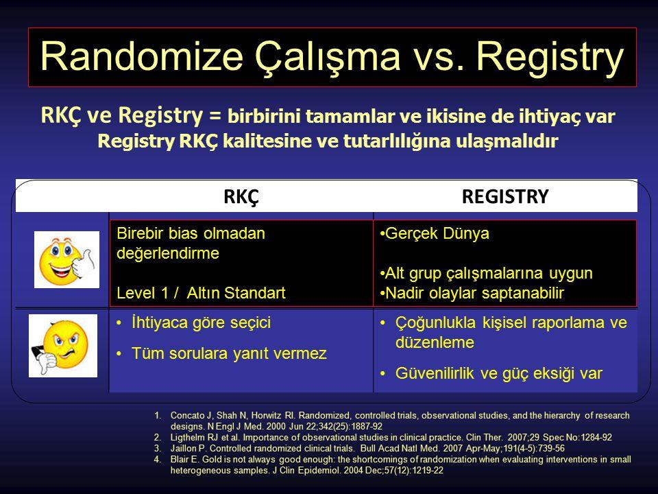 Randomize Çalışma vs. Registry
