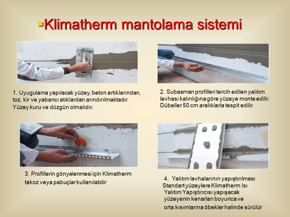 Klimatherm mantolama sistemi