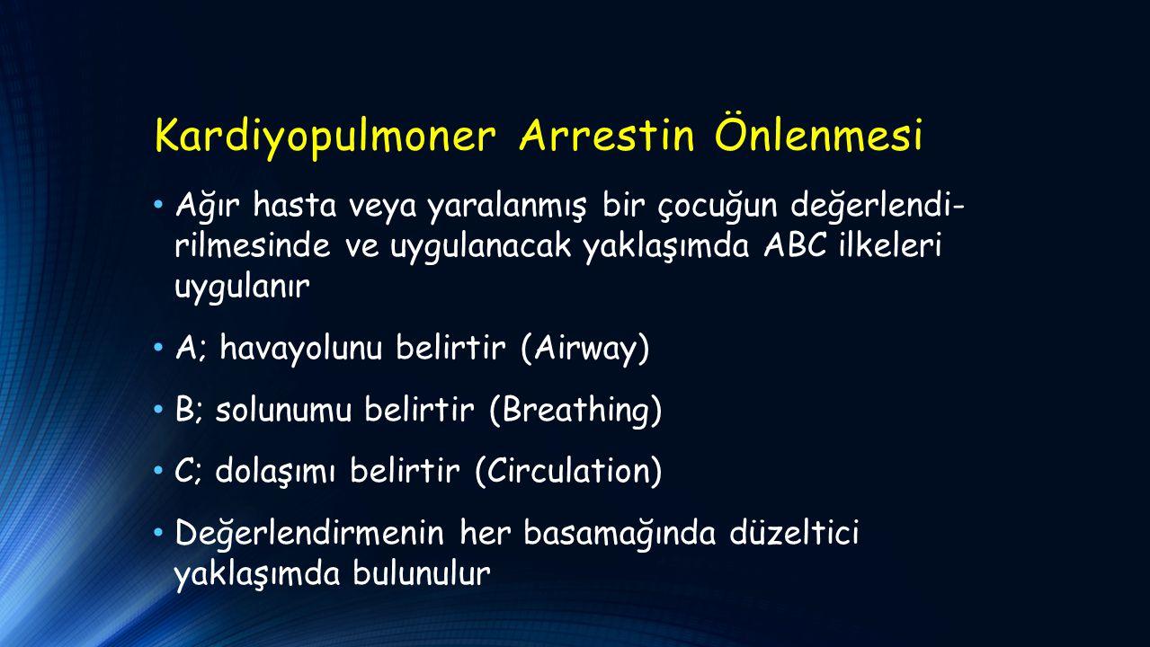 Kardiyopulmoner Arrestin Önlenmesi