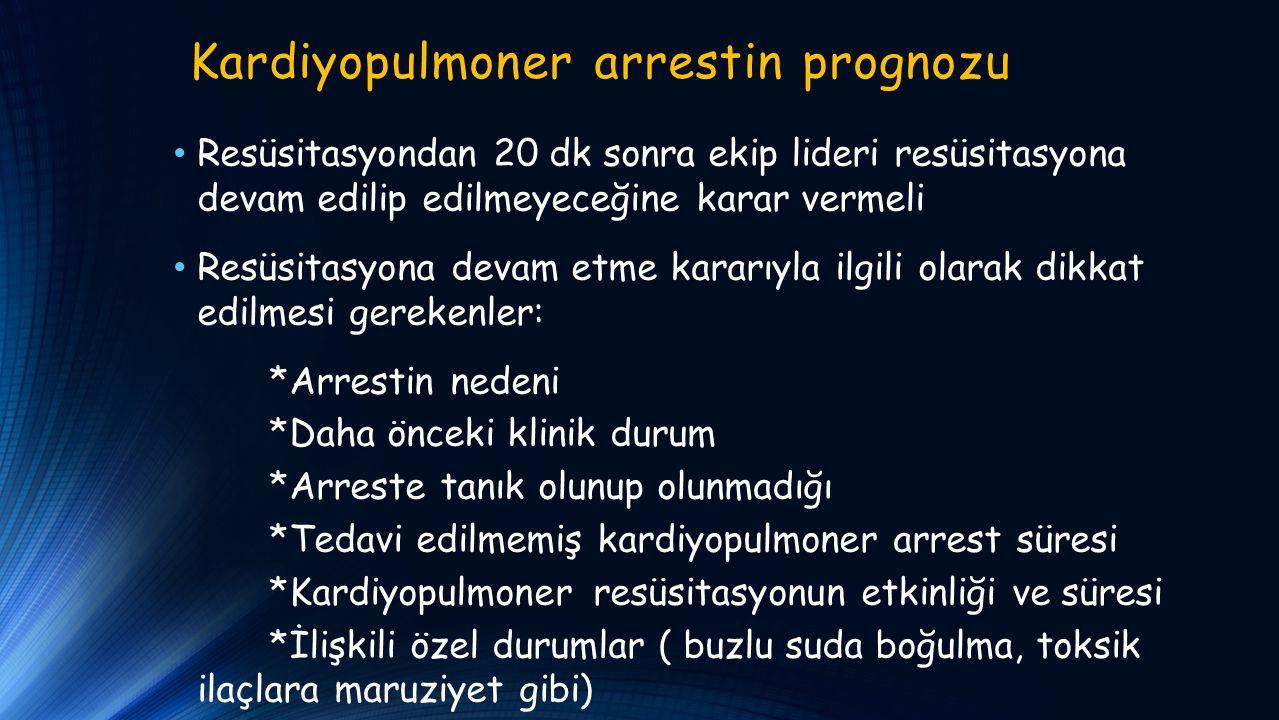 Kardiyopulmoner arrestin prognozu