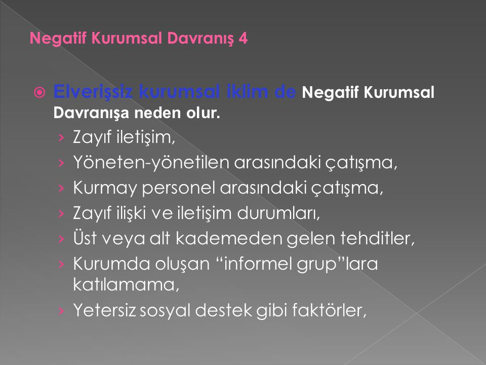 Negatif Kurumsal Davranış 4