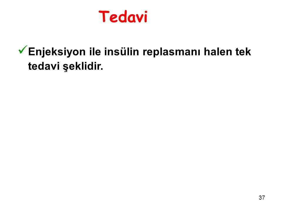 Tedavi Enjeksiyon ile insülin replasmanı halen tek tedavi şeklidir. 16