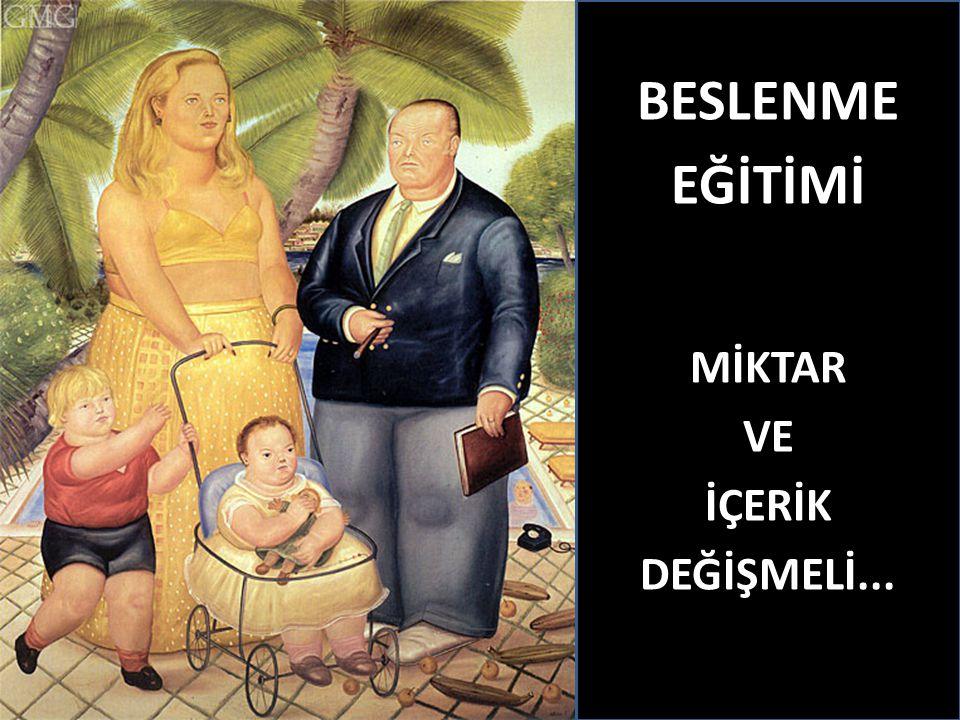 BESLENME EĞİTİMİ MİKTAR VE İÇERİK DEĞİŞMELİ...