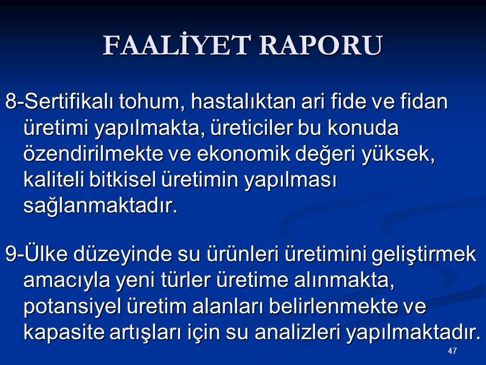 FAALİYET RAPORU