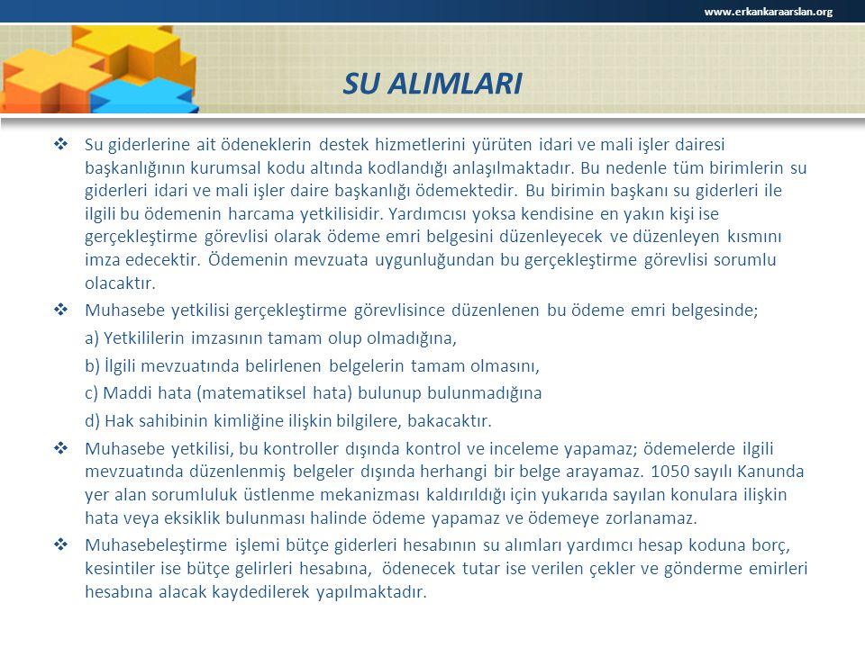 www.erkankaraarslan.org SU ALIMLARI.