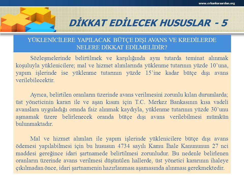 DİKKAT EDİLECEK HUSUSLAR - 5