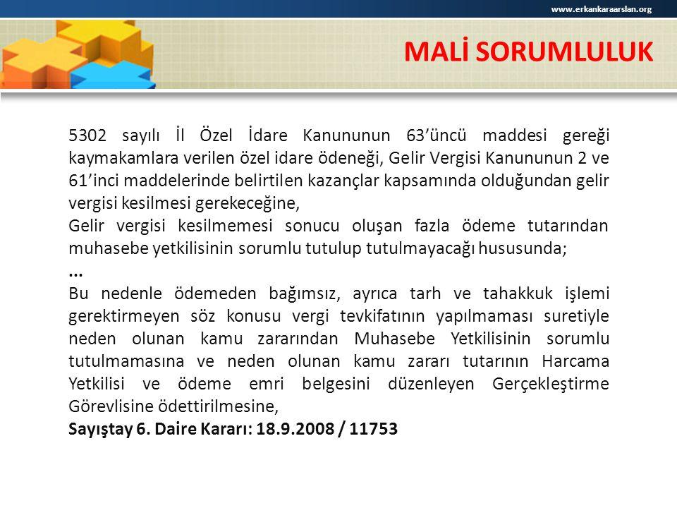 www.erkankaraarslan.org MALİ SORUMLULUK.