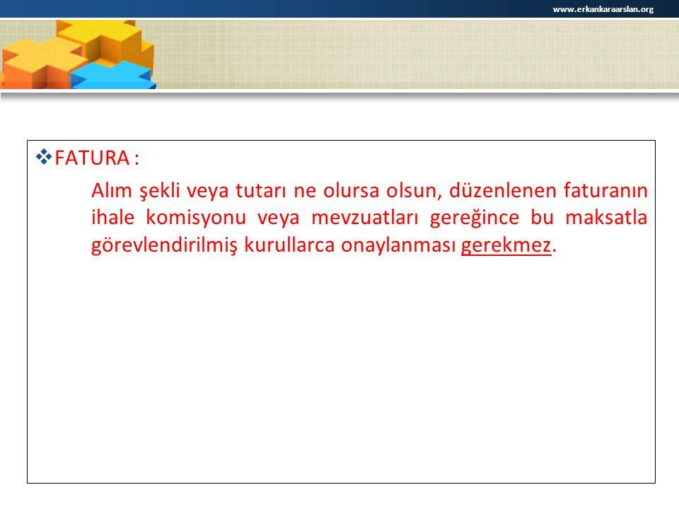 www.erkankaraarslan.org FATURA :