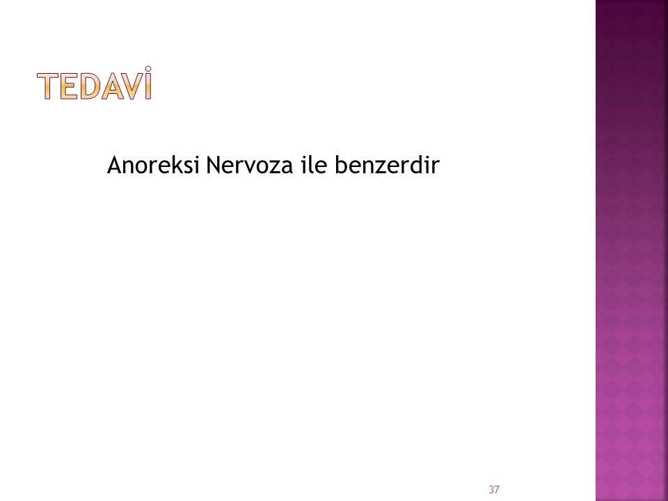 Tedavİ Anoreksi Nervoza ile benzerdir