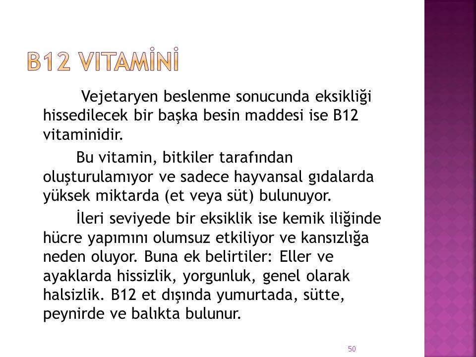 B12 Vitamİnİ