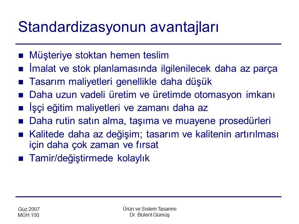 Standardizasyonun avantajları