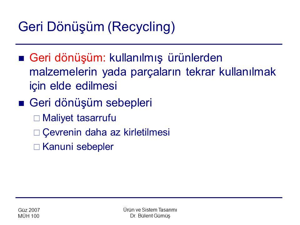 Geri Dönüşüm (Recycling)