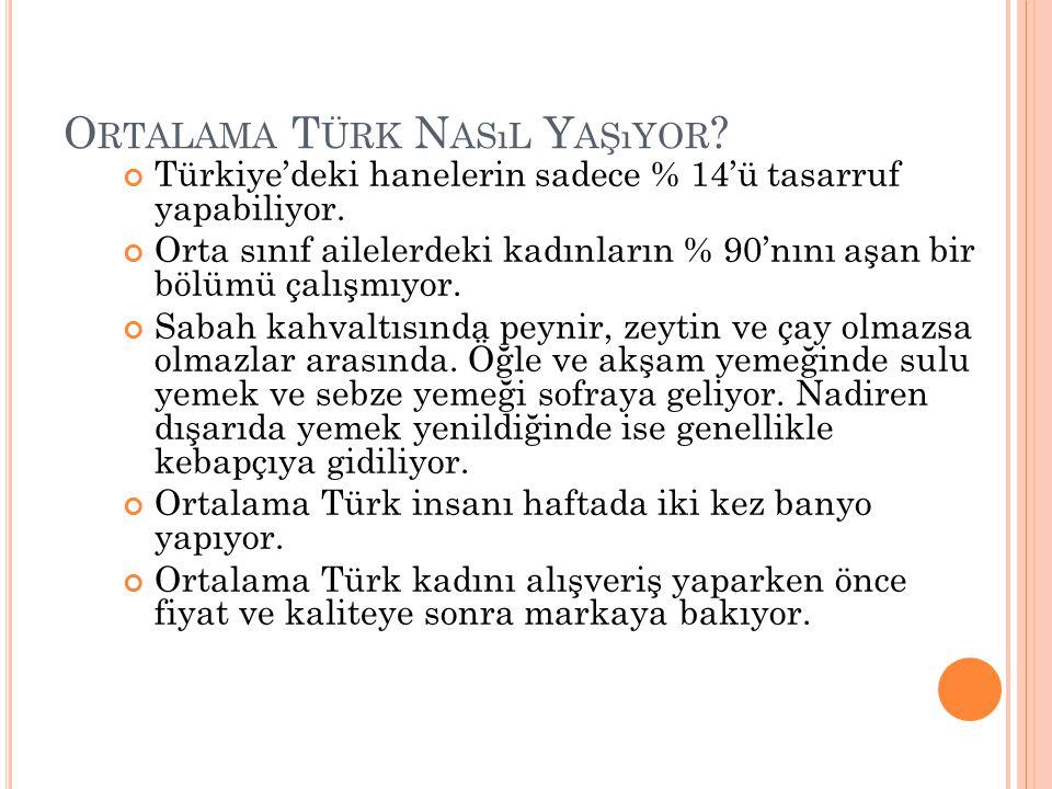 Ortalama Türk Nasıl Yaşıyor