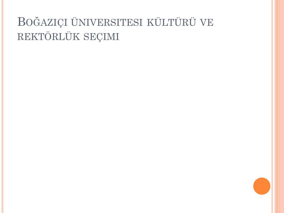 Boğaziçi üniversitesi kültürü ve rektörlük seçimi