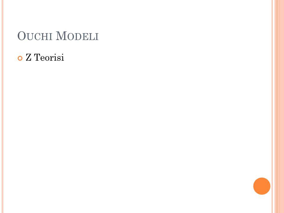 Ouchi Modeli Z Teorisi