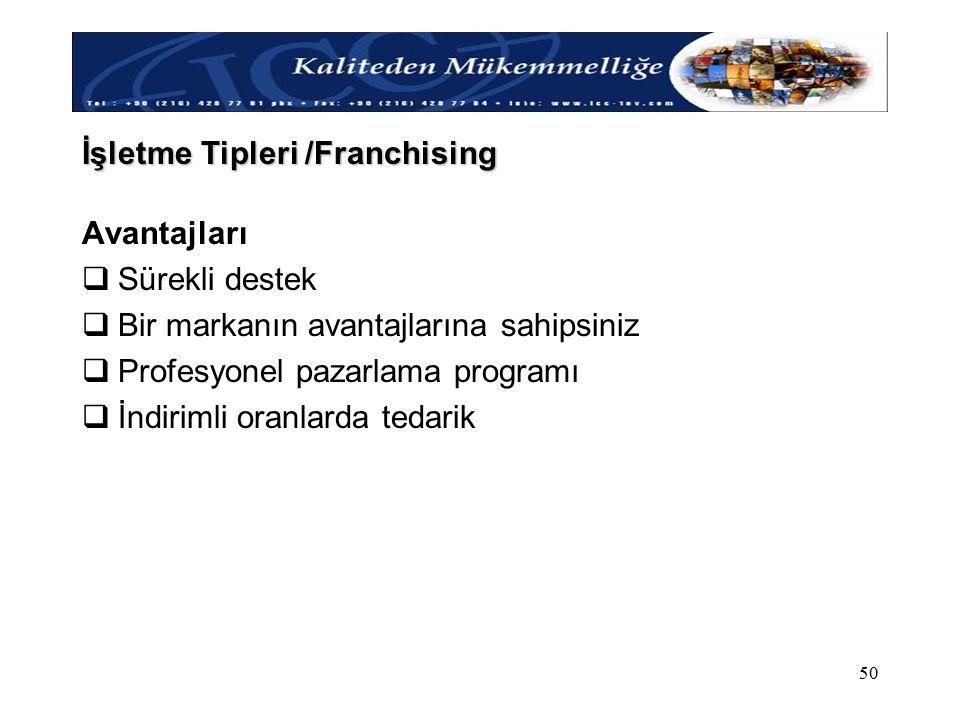 İşletme Tipleri /Franchising