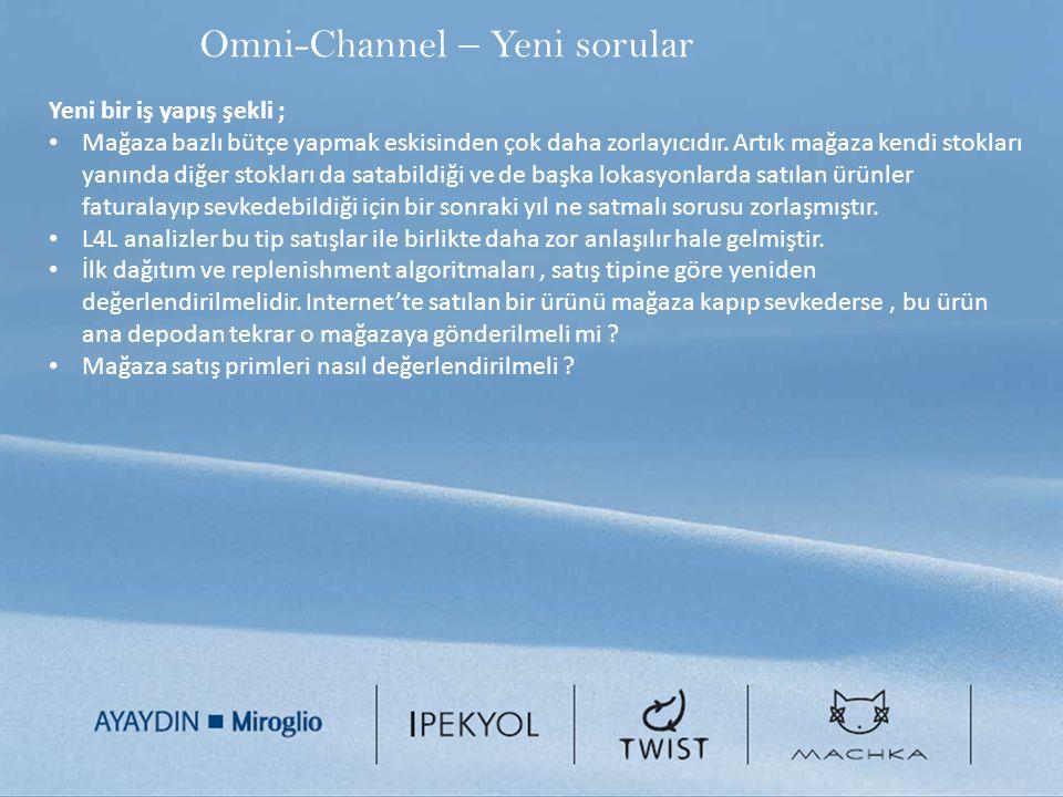 Omni-Channel – Yeni sorular