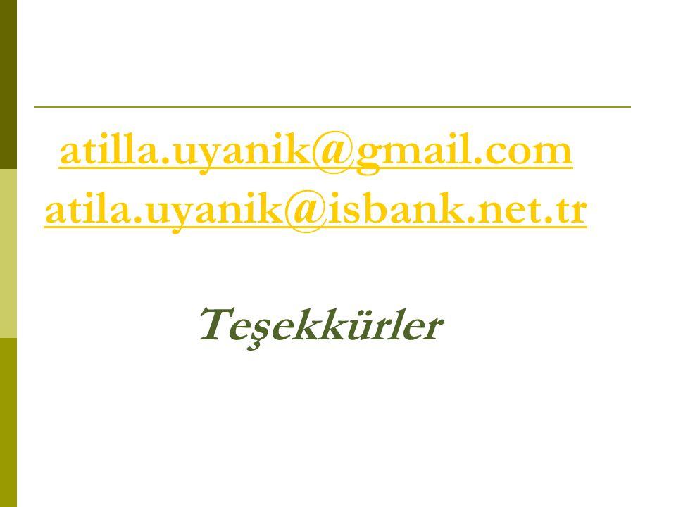 atilla.uyanik@gmail.com atila.uyanik@isbank.net.tr Teşekkürler
